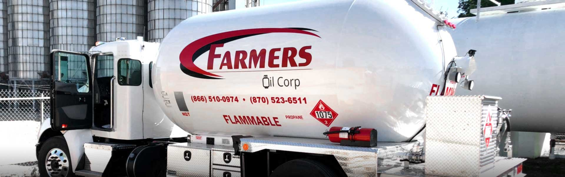 Farmers Oil Corp liquid propane gas truck